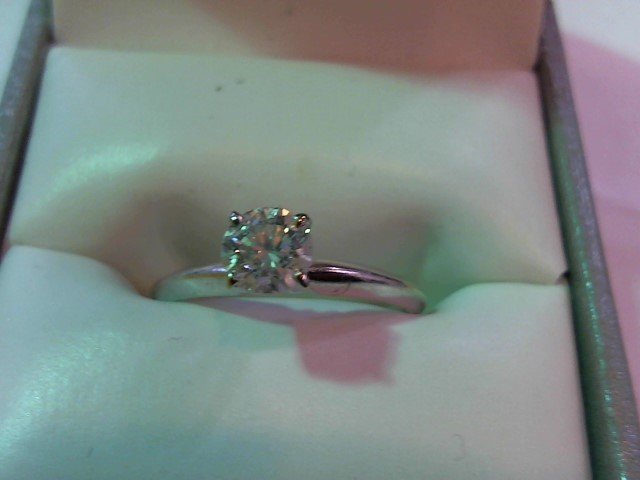 Lady's Diamond Solitaire Ring .50 CT. 14K White Gold 1.8g
