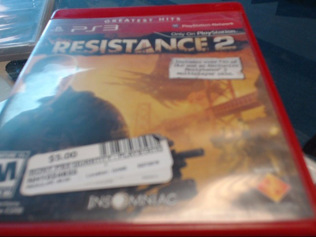 SONY PS3 RESISTANCE 2