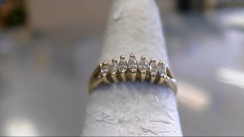 Lady's Diamond Cluster Ring 7 Diamonds .35 Carat T.W. 14K Yellow Gold 2g