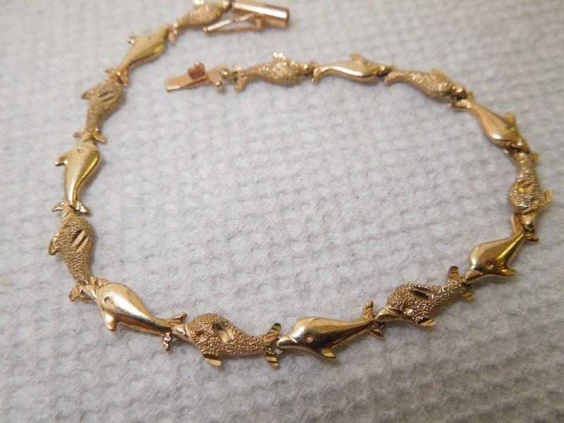 Gold Bracelet 14K Yellow Gold 5.6g