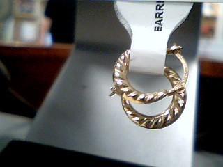 Gold Earrings 10K Yellow Gold 0.3g