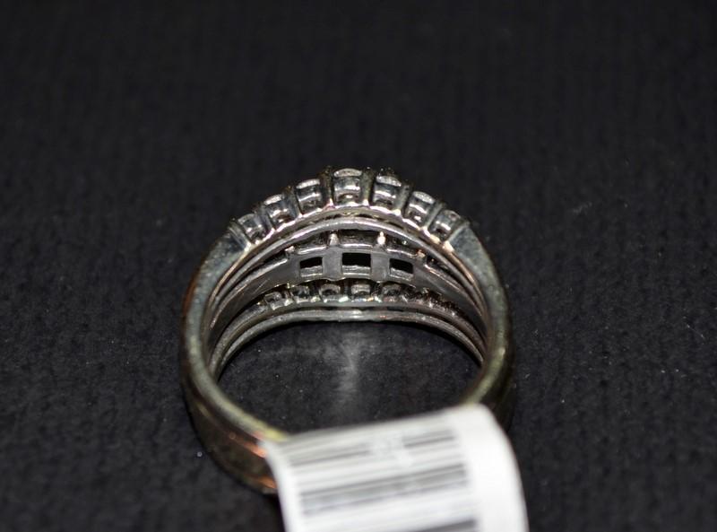 Lady's Diamond Wedding Set 17 Diamonds 1.71 Carat T.W. 14K White Gold 7.1g