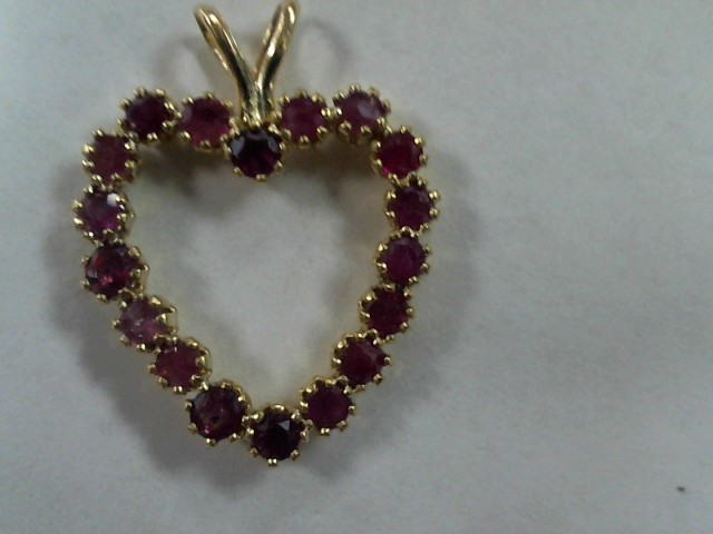 Ruby Gold-Stone Pendant 14K Yellow Gold 0.7g