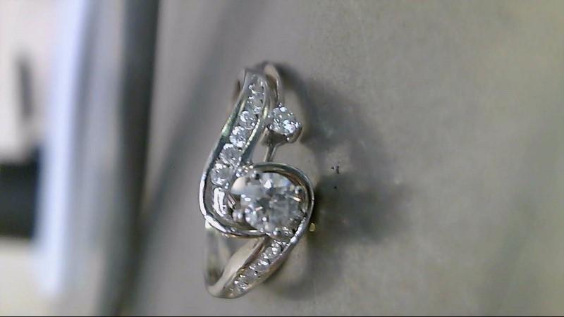 Lady's Diamond Wedding Set 15 Diamonds .38 Carat T.W. 14K White Gold 2.03g