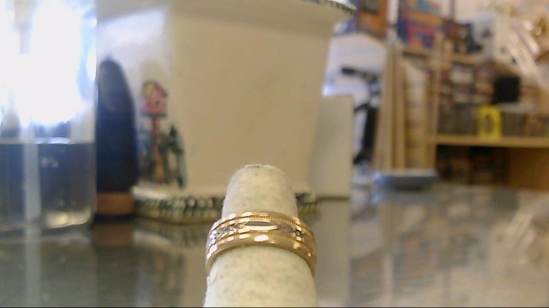 Lady's Gold Ring 14K 2 Tone Gold 5.8g