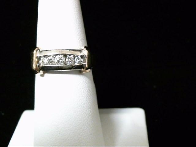 Lady's Diamond Wedding Band 5 Diamonds .22 Carat T.W. 14K White Gold 6.4g