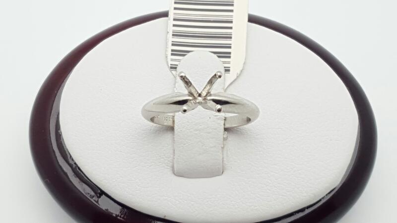 Lady's Platinum Ring 950 Platinum 3.8g Size:4.75