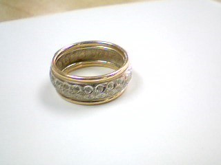 Lady's Gold Ring 10K 2 Tone Gold 2.9g Size:7