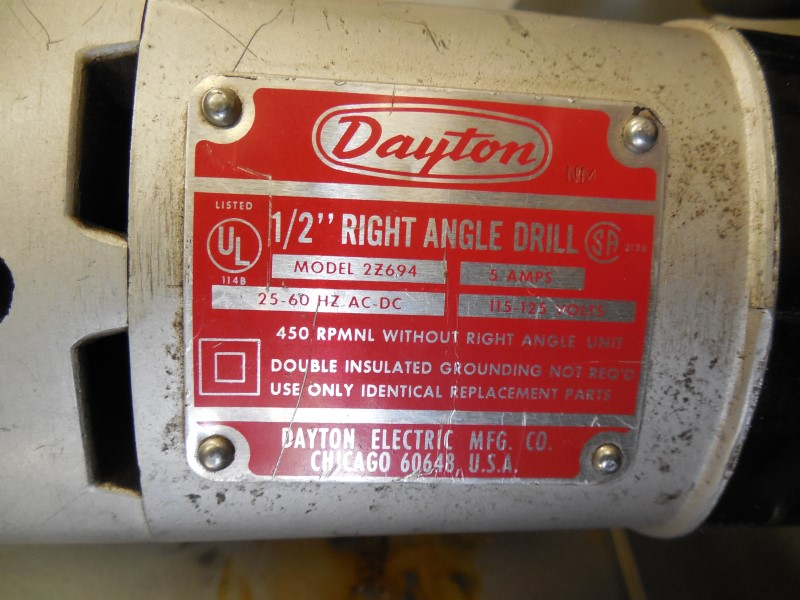 "DAYTON 5AMP 1/2"" DRILL 2Z694"