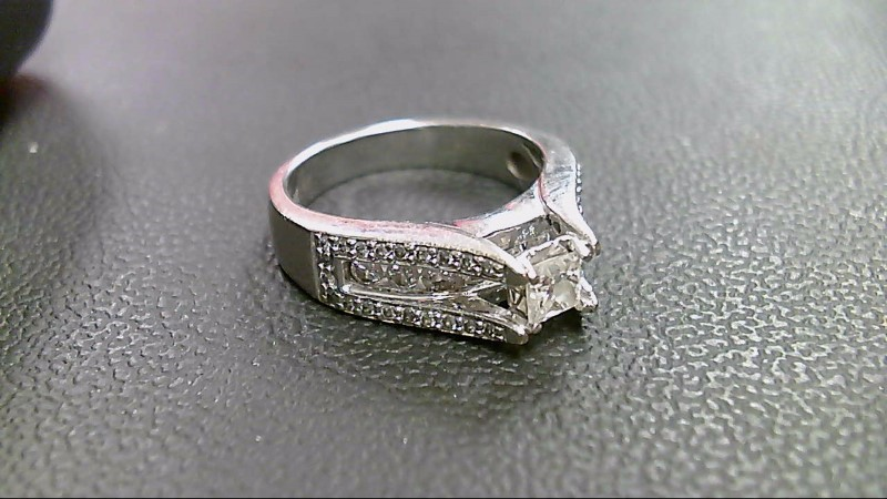 Lady's Diamond Wedding Band 50 Diamonds 1.44 Carat T.W. 14K White Gold 7.1g