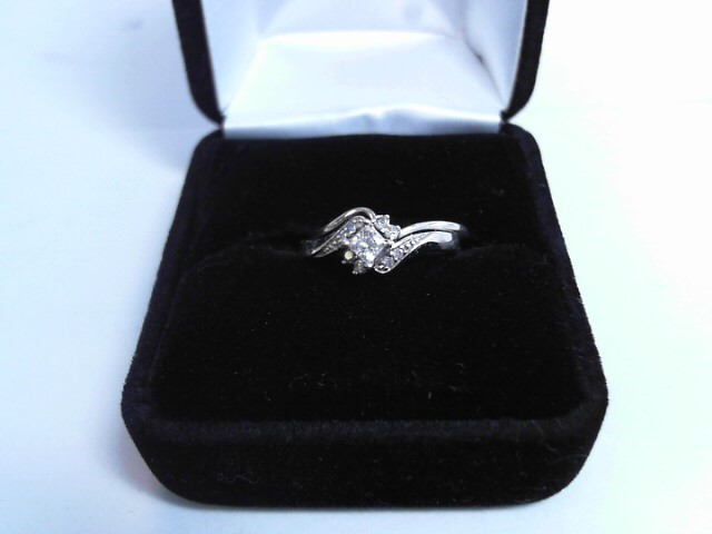 Lady's Diamond Solitaire Ring .25 CT. 10K White Gold 1.8dwt