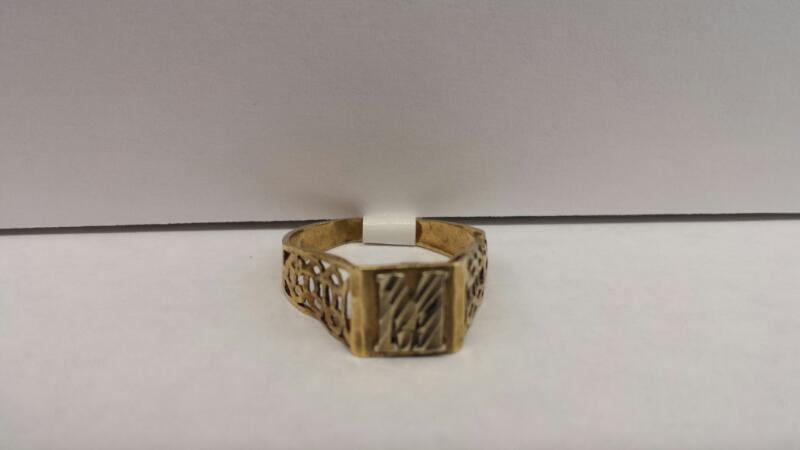 """10k Yellow Gold Ring with """"M"""""""