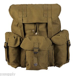ROTHCO SOFT PACK OLIVE CANVIS BACK PACK