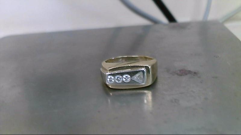 Gent's Diamond Fashion Ring 4 Diamonds .50 Carat T.W. 10K Yellow Gold 6.3g