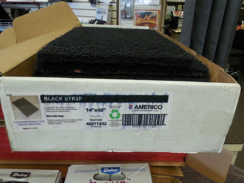 "AMERICO BLACK STRIP 14""X32""PADS"
