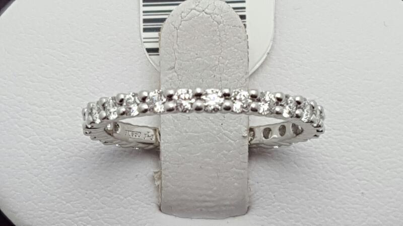 Lady's Platinum-Diamond eternity Ring 27 Diamonds .81 Carat T.W.
