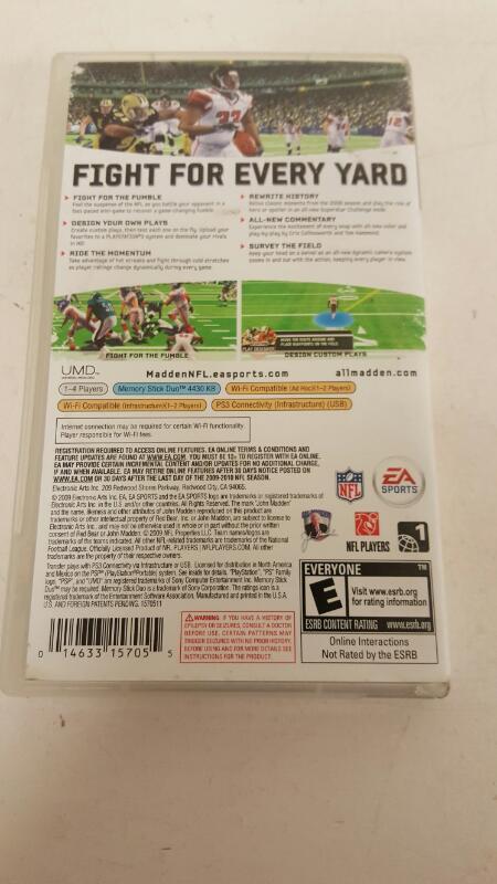 Madden NFL 10 (Sony PSP, 2009)  FRE SHIPPING