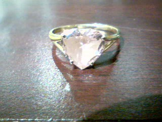 Pink Stone Lady's Stone Ring 14K Yellow Gold 2.1g
