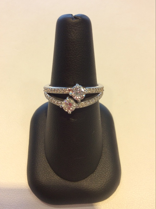 Lady's Diamond Fashion Ring 14K White Gold
