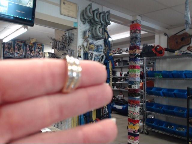 Lady's Diamond Fashion Ring 22 Diamonds .22 Carat T.W. 10K Yellow Gold 2.1dwt