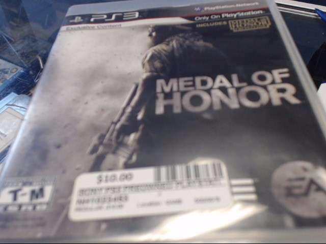 SONY PS3 MEDAL OF HONOR