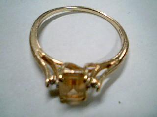 Yellow Stone Lady's Stone Ring 10K Yellow Gold 2.1g