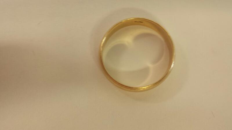 Gts 14K-YG Coin Edge Wedding Band 2.9dwt Size 9