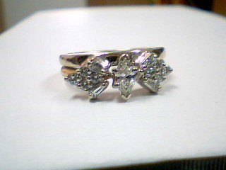 Lady's Diamond Engagement Ring 13 Diamonds .82 Carat T.W. 14K Yellow Gold 4.8g
