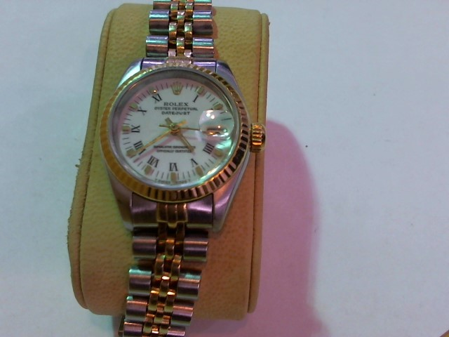 ROLEX Lady's Wristwatch 69173 18K STAINLESS DATEJUST JUBILEE