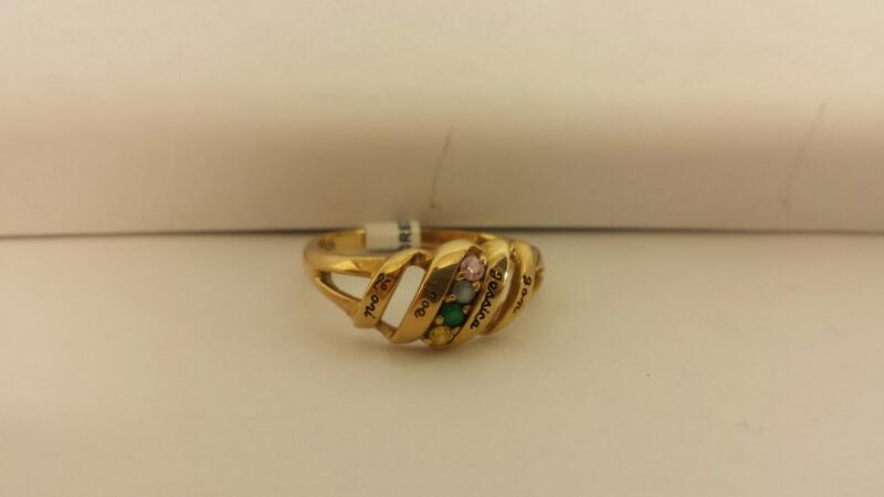 """10k Yellow Gold """"Mother's"""" Ring"""