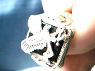 Lady's Gold Ring 14K White Gold 4.37g