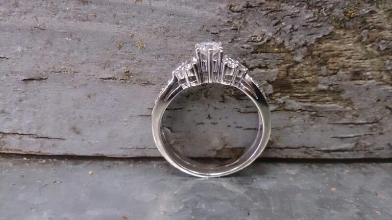 Lady's Diamond Wedding Set 24 Diamonds.48 Carat T.W. 14K White Gold 6.6g