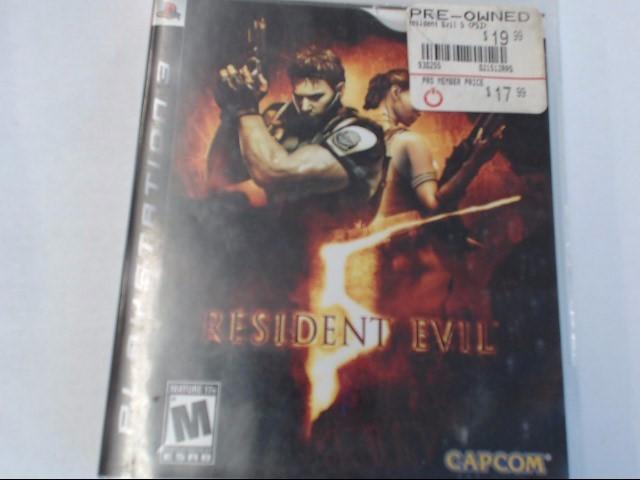 RESIDENT EVIL 5 PS3 GAME