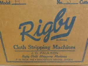 RIGBY CLOTH STRIPPING MACHINES