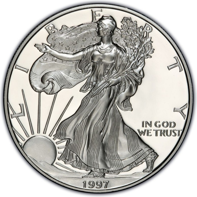 UNITED STATES Silver Coin 1997 SILVER EAGLE DOLLAR