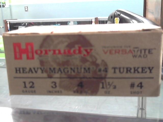 "HORNADY Ammunition 12 GA 3"" TURKEY 4 SHOT"