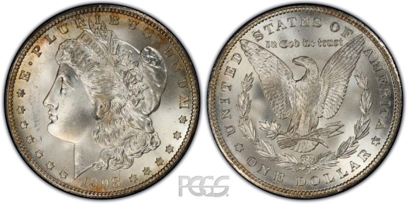 UNITED STATES Silver Coin 1898 O MORGAN