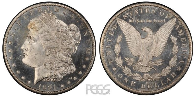 UNITED STATES Silver Coin 1891 S MORGAN DOLLAR