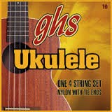 GHS STRINGS Musical Instruments Part/Accessory UKULELE WHITE NYLON SET 10