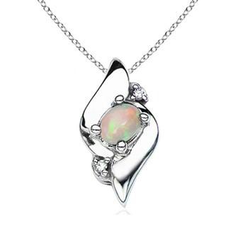 Black Stone Silver-Diamond & Stone Pendant 21 Diamonds .21 Carat T.W.