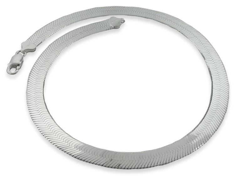 "20"" Silver Herringbone Chain 925 Silver 13.7g"