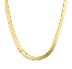 "18"" Gold Herringbone Chain 10K Yellow Gold 4.7dwt"