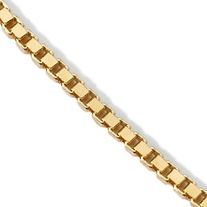 "19"" Gold Box Chain 18K Yellow Gold 3.8g"
