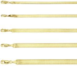 Gold Herringbone Bracelet 14K Yellow Gold 3.02g