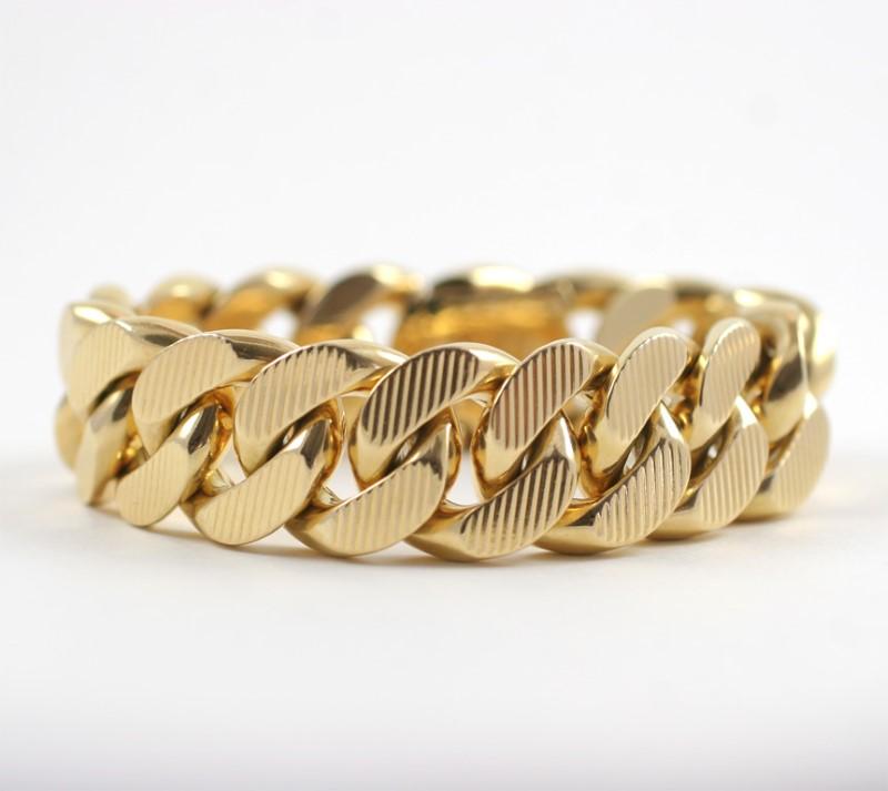 Gold Link Bracelet 14K Yellow Gold 12.5g