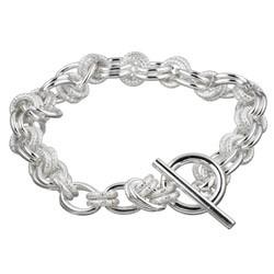 Silver Link Bracelet 925 Silver 8.7dwt