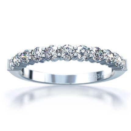 Lady's Platinum-Diamond Wedding Band 11 Diamonds .11 Carat T.W. 950 Platinum