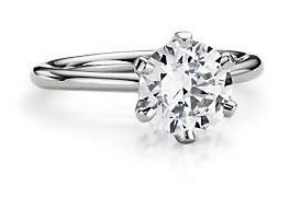 Lady's Diamond Solitaire Ring .57 CT. 14K White Gold 2.2g Size:7