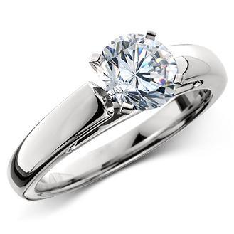 Lady's Platinum-Diamond Solitaire .60 CT. 950 Platinum 5g Size:5