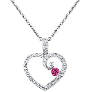 "20"" Diamond Necklace 7 Diamonds .45 Carat T.W. 14K White Gold 2.8g"